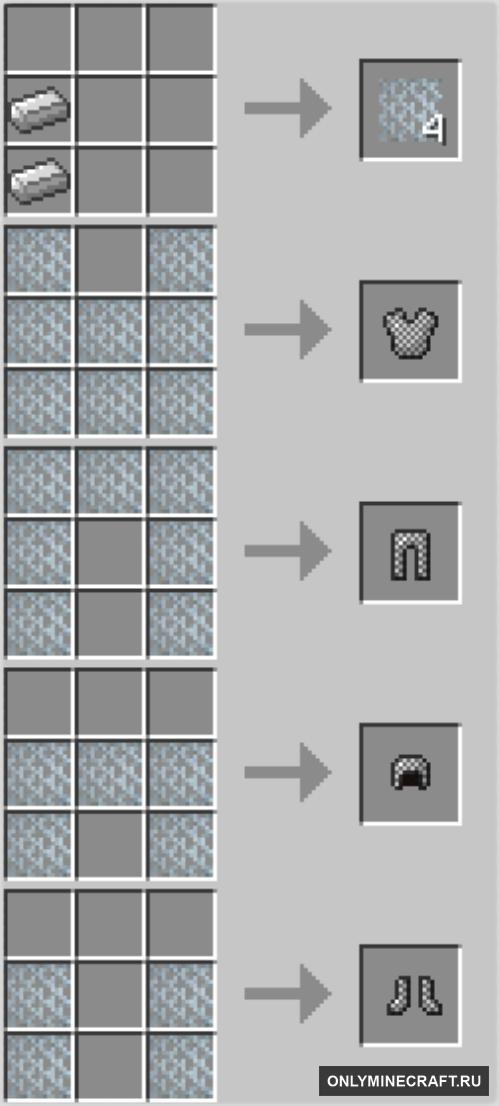 Minecraft кольчуга как сделать