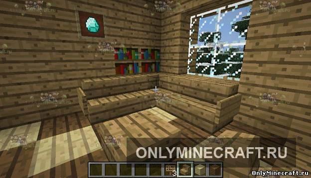 Minecraft как сделать книжную полку фото 123