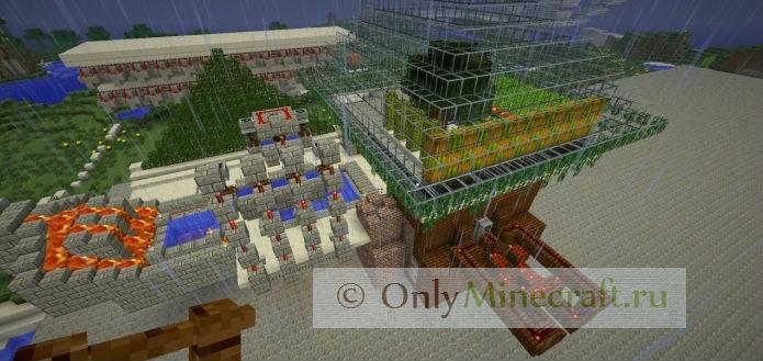 Дом с Механизмами в Майнкрафт