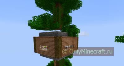 красивые дома майнкрафте дерева видео