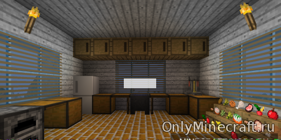 Как сделать кухню в майнкрафте