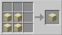 Minecraft Песочный блок крафт