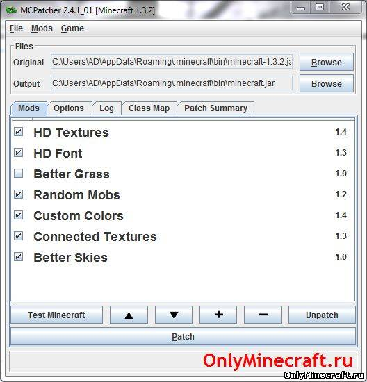 MCPatcher HD v2.4.4_01