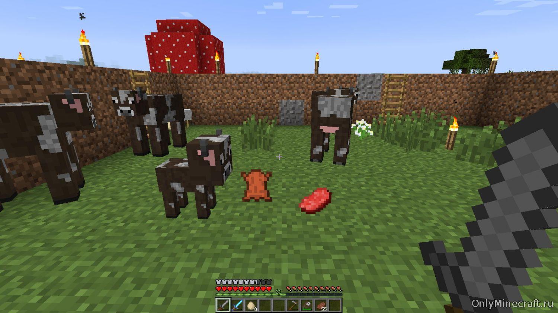 Minecraft как сделать грибную корову 617